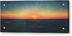 Acrylic Print featuring the photograph Sunset At Lapham Peak #3 - Wisconsin by Jennifer Rondinelli Reilly - Fine Art Photography