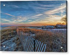 Sunset At Lighthouse Beach In Chatham Massachusetts Acrylic Print
