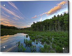 Acrylic Print featuring the photograph Sunset At Mass Audubon's Broadmoor Wildlife Sanctuary by Juergen Roth