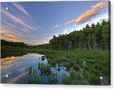 Sunset At Mass Audubon's Broadmoor Wildlife Sanctuary Acrylic Print by Juergen Roth