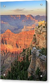Sunset At Mather Point Acrylic Print by David Chandler
