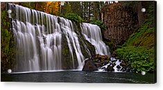 Sunset At Middle Falls Acrylic Print