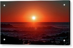 Sunset At Monterey Acrylic Print