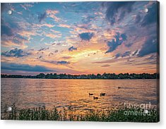 Sunset At Morse Lake Acrylic Print