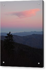 Sunset At Newfound Gap Acrylic Print by Steve Carpenter