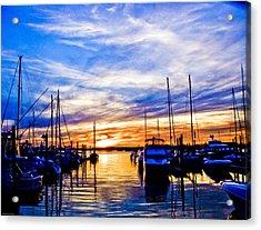 Sunset At Newport Acrylic Print