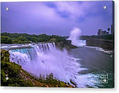 Sunset At Niagara Acrylic Print