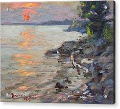 Sunset At Niagara River Acrylic Print