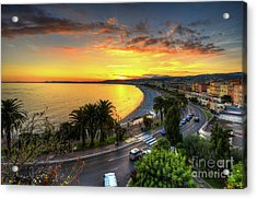 Acrylic Print featuring the photograph Sunset At Nice by Yhun Suarez