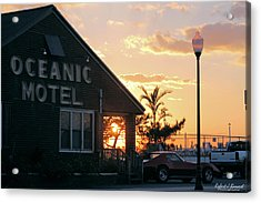 Sunset At Oceanic Motel Acrylic Print