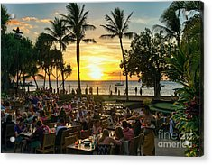Sunset At Old Lahaina Luau #1 Acrylic Print