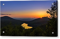 Sunset At Owls Head Acrylic Print by Tim Kirchoff