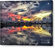 Sunset At Oyster Lake Acrylic Print by Walt Foegelle