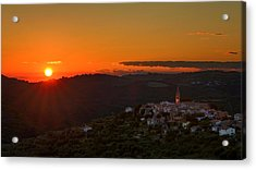 Sunset At Padna Acrylic Print