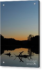 Sunset At Paulinskill Lake Acrylic Print