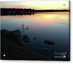 Sunset At Pentwater Lake Acrylic Print