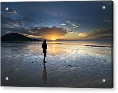 Acrylic Print featuring the photograph Sunset At Phuket Island by Ng Hock How