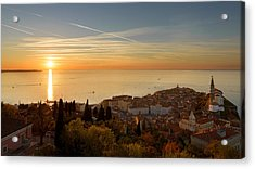 Sunset At Piran Acrylic Print