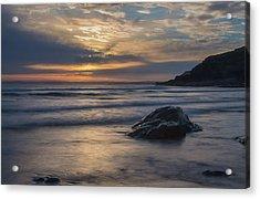 Sunset At Poldhu Cove Acrylic Print