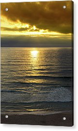 Sunset At Praia Pequena, Small Beach In Sintra Portugal Acrylic Print