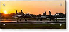 Sunset At Raf Lakenheath Acrylic Print