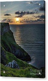 Sunset At Rhossili Bay Acrylic Print