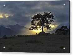 Sunset At Rocky Mountain Park Co Acrylic Print by James Steele