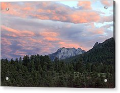 Sunset At Rocky Mountain Park.co Acrylic Print by James Steele