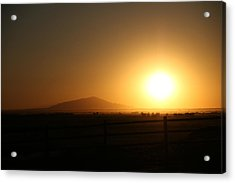 Sunset At Roswell New Mexico  Acrylic Print