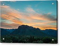 Sunset At Sabino Canyon Acrylic Print