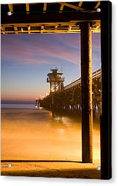 Sunset At San Clemente Acrylic Print by Cliff Wassmann