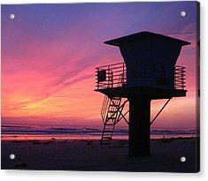 Sunset At San Elijo Acrylic Print by Eric Foltz