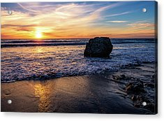 Sunset At San Simeon Beach Acrylic Print