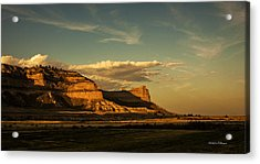 Sunset At Scotts Bluff National Monument Acrylic Print by Edward Peterson