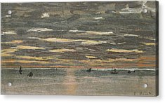 Sunset At Sea Acrylic Print by Claude Monet