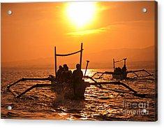 Sunset At Sea Indonesia Acrylic Print