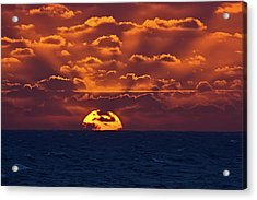 Acrylic Print featuring the photograph Sunset At Sea Part Two by John Haldane