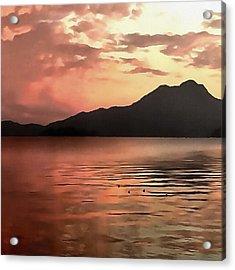 Sunset At Sea Acrylic Print by Tracey Harrington-Simpson