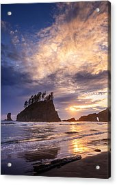 Acrylic Print featuring the photograph Sunset At Second Beach by Dan Mihai