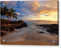 Sunset At Secret Beach Acrylic Print