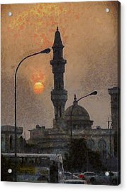 Sunset At Seeb Acrylic Print