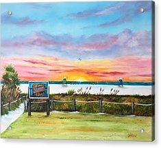 Sunset At Siesta Key Public Beach Acrylic Print