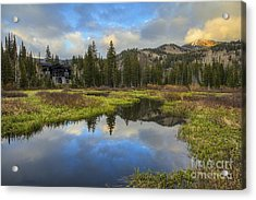 Sunset At Silver Lake Outlet Acrylic Print
