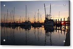 Sunset At St. Marys Acrylic Print by Joel Deutsch