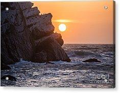 Sunset At Star Gazer Rock B3955 Acrylic Print