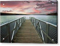 Sunset At Stewart Park Acrylic Print