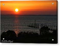 Sunset At St.marks Nwf Acrylic Print by Barbara Bowen