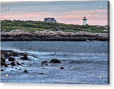 Sunset At Straitsmouth Light Acrylic Print