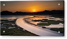 Sunset At Suncheon Bay Acrylic Print