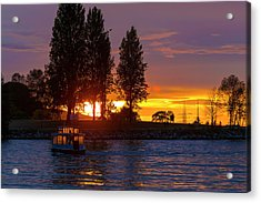 Sunset At Sunset Beach In Vancouver Bc Acrylic Print